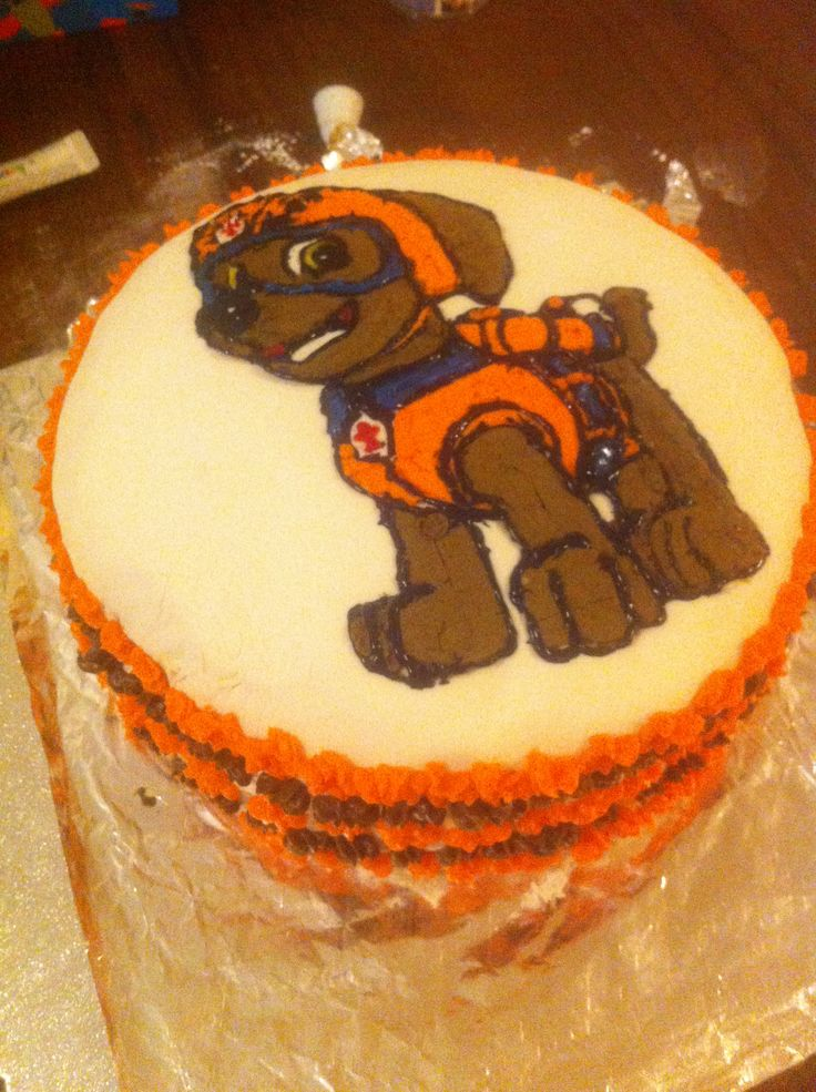 Zuma Paw Patrol Cake For Noah S 4th Birthday All Hand