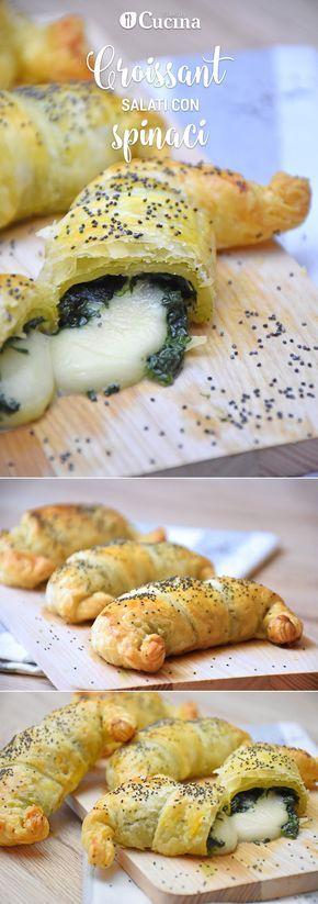 I #croissant salati con #spinaci sono degli #antipasti originali e semplicissimi da realizzare. Ecco la #videoricetta