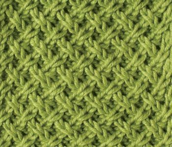 Free eBook to discover stitch patterns, such as this lattice pattern design.: