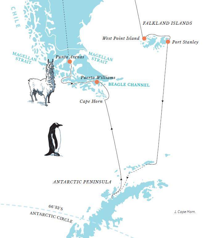 Hurtigruten risteily Patagoniaan, Etelämantereelle ja Chilen vuonoille