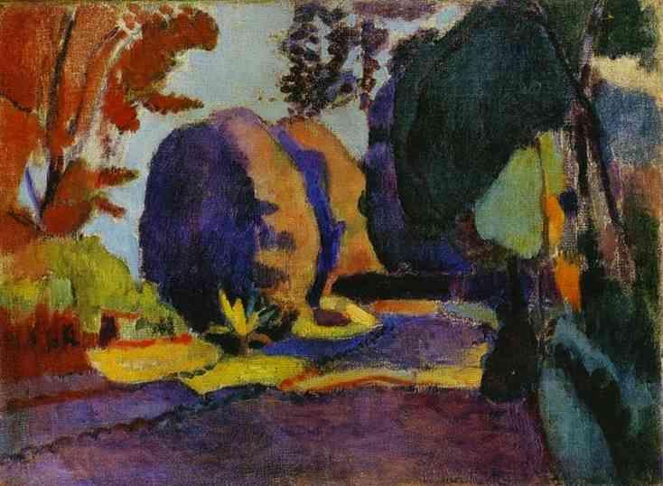 Giardini di Lussemburgo, Henri Matisse, 1901