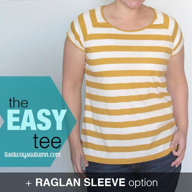 Tweet Pin It ***Be sure to read the original easy tee post for basic t-shirt construction tips*** Here's another version of theraglan sleeve easy teefor you – and this is my favorite one yet! I don't always LOVE everything I sew – sometimes things look a lot better in my head or at the sewing …