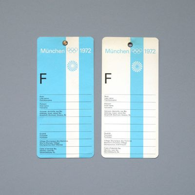 Otl Aicher, the 1972 Munich Olympics - Luggage Tags // 40 years and still looks 'modern'