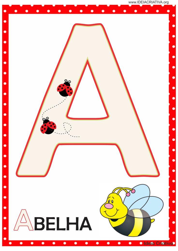 Alfabetos Ideia Criativa: Alfabeto Joaninha para imprimir Grátis