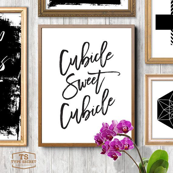 black and white printable art cubicle sweet cubicle office art print office wall art office decor office printable cubicle art black modern metal hanging office cubicle