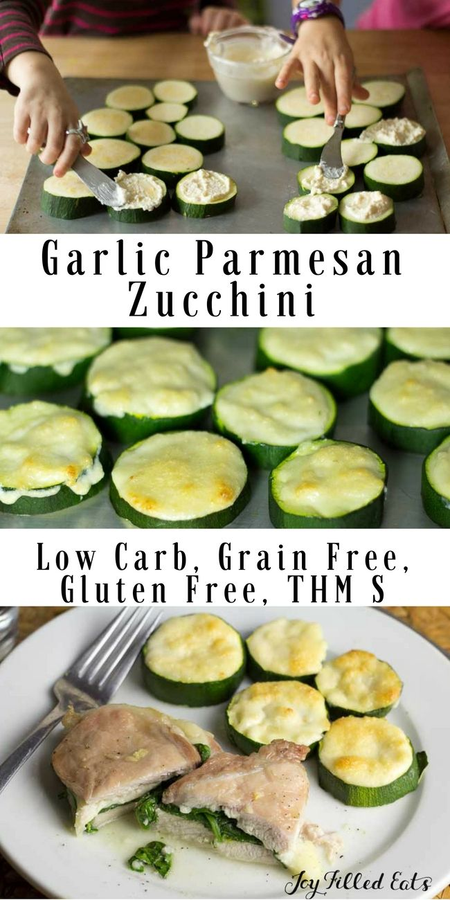 Tender zucchini with a creamy, garlicy, cheesy topping baked on. This Garlic Parmesan Zucchini will be your new favorite side dish. It has only 5 ingredients and a 5 minute prep time making it perfect for weeknights. via @joyfilledeats