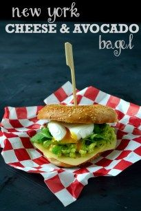 Cheese Sandwich Week - Day 1: The New York Cheese & Avocado Bagel - The Veg Space