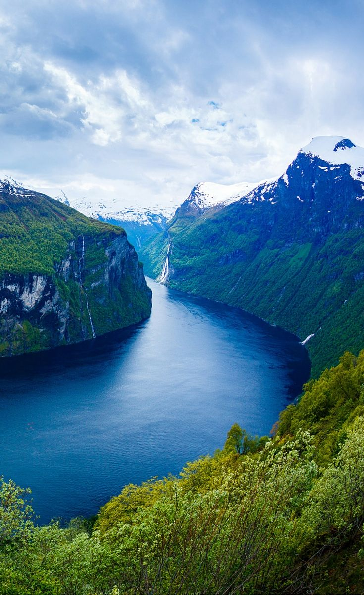 The famous Geiranger Fjord in Norway. Click through to see 20 more photos that will inspire you to travel to Norway