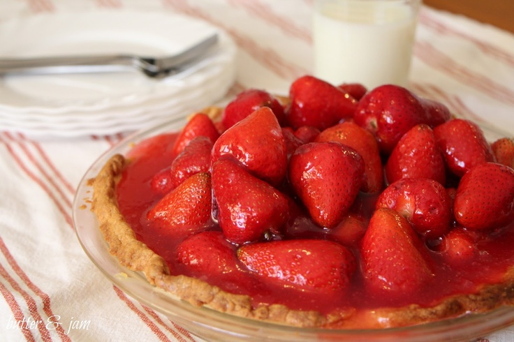 butter & jam: strawberry custard pie