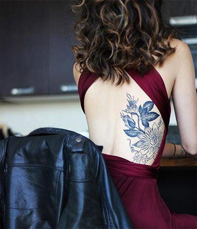 Tatoo nas Costas Tatuagem Flores - www.vaidosas.com.br