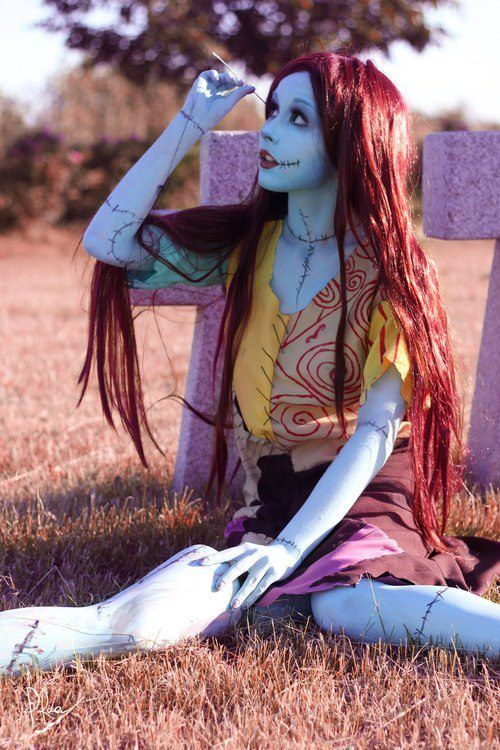 this is just really well done. Sally (nightmare before christmas) makeup and costume