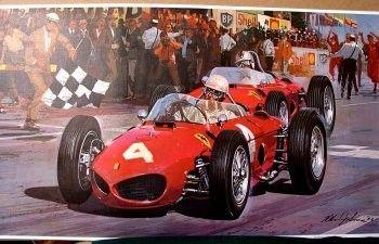 1961 Formula 1 Belgium Grand Prix Race Phil Hill by 4wheeldreams,