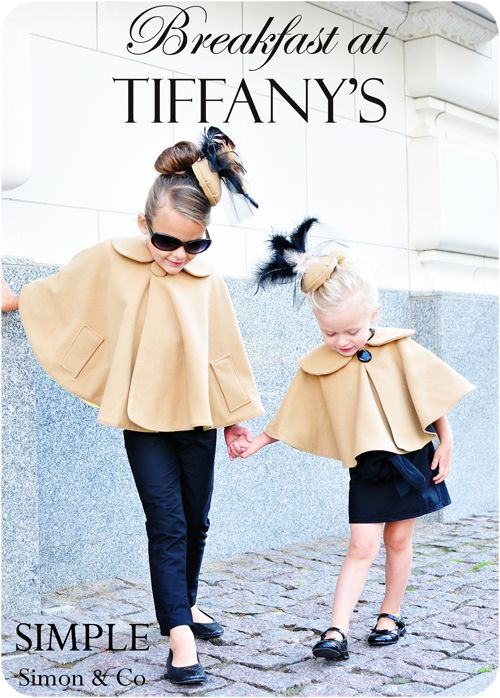"The ""Audrey Capes"" tutorialLittle Girls, Capes, Kids Fashion, Dresses, Breakfast At Tiffanys, Audrey Hepburn, Daughters, Future Kids, Kidsfashion"