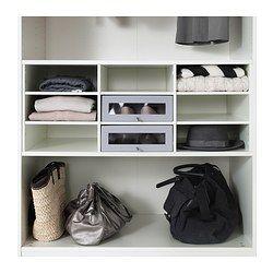 KOMPLEMENT Inzet basiselement met vak, wit - wit - IKEA
