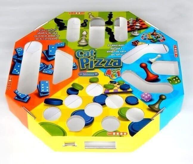 Novidade para o seu Bichano, o Cat Pizza é um jogo 4 em 1, interativo que proporciona o bem estar físico e mental, atiçando o instinto de caça. Pode ser utilizado por vários gato ao mesmo tempo.