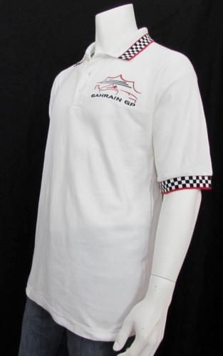 Men Formula One F1 Bahrain Grand Prix Polo Shirt 100% Cotton sz XL NEW NWT