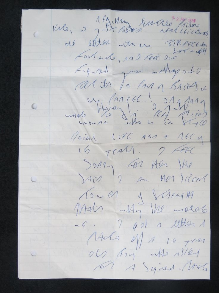 Letter sent from Reggie Kray at Gartree prison to Kate Kray covering various topics