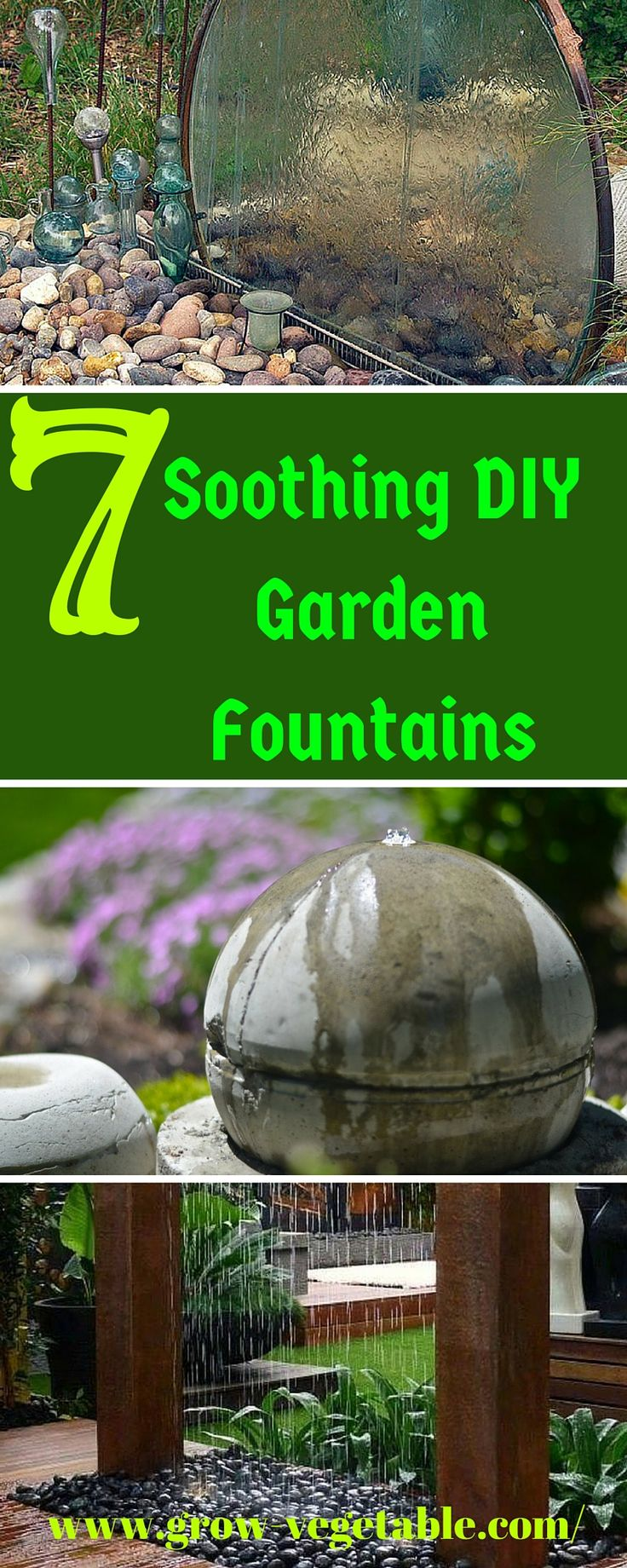 7 soothing DIY garden fountains are meant to inspire you, but I hope you pick one to recreate for your own yard, or let one convince