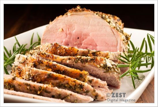 Garlic-Herb Crusted Boneless Pork Sirloin Roast | Recipe