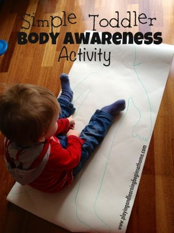Tracing the body is a fun way for children to develop a sense of body awareness