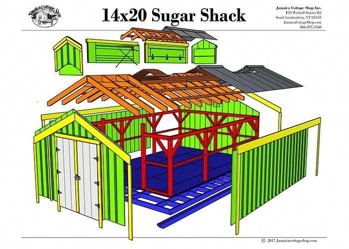 These New England Designed Sugar Shack Plans Compliment Any Landscape And Yard Type Build Your Own Sugar Shack Wi Shed Plans Shed Plans 12x16 Shed House Plans