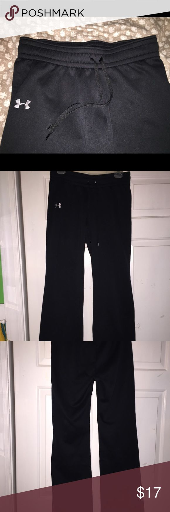 Under armour sweatpants perfect condition! Women's under armour sweatpants.. like perfect condition because they never actually fit me😩 so no stains, rips, or even worn out at all. If you have any questions feel free to ask! Size medium. I like offers😛💸 Under Armour Pants Track Pants & Joggers