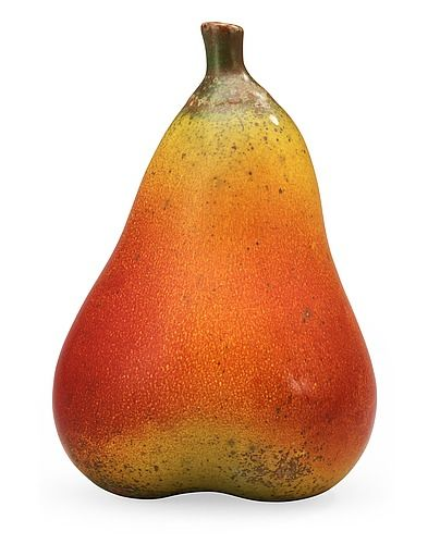 863. A Hans Hedberg faience pear, Biot, France.