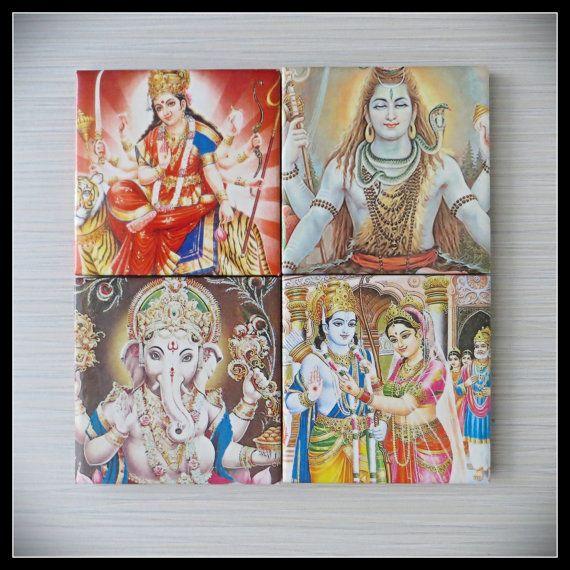 Hindu Deities God  Maa Durga Shiva Ganesha Rama by LUSHCoasterLand