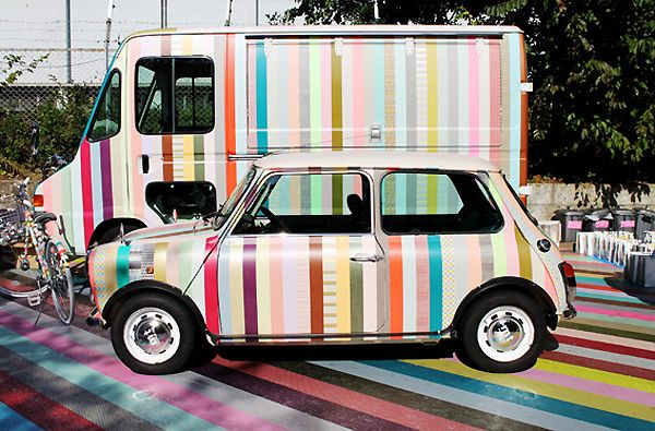 MT Casa: XL Washi Tape For Decorating.  Now you can stripe your walls, floors or your car.