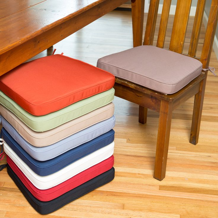 Deauville 18 x 16.5 Dining Chair Cushion - Nearly every dining chair can be made better with a comfortable cushion, and this cushion is a Hayneedle exclusive, tried and tested on our ow...
