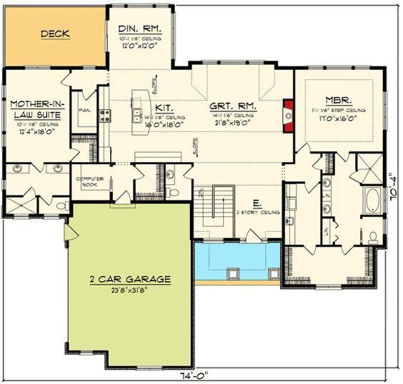 New ft plus basement Plan AH Prairie Ranch House Plan