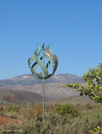 Wind Sculpture That Would Look Great In My Garden.