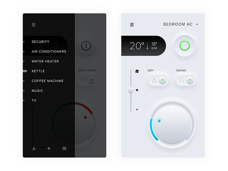 Smart home app AC control—Daily UI #021