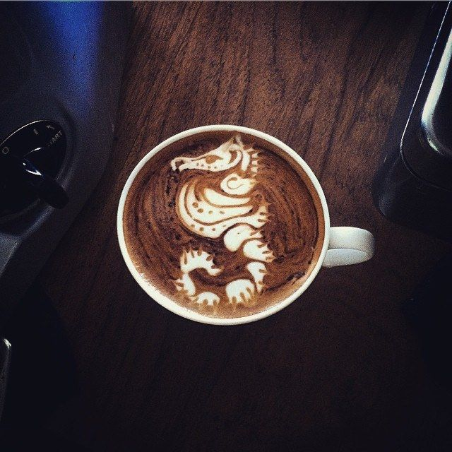 Hey there seahorse. #latteart #coffee