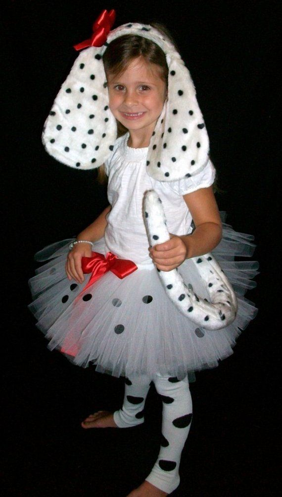 Sweet Dalmation Puppy Tutu Costume - I could so make this for Maddyn!
