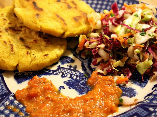 22 best south american vegan recipes images on pinterest vegan pupusas with latin tomato sauce and salvadorian slaw from viva vegan forumfinder Choice Image