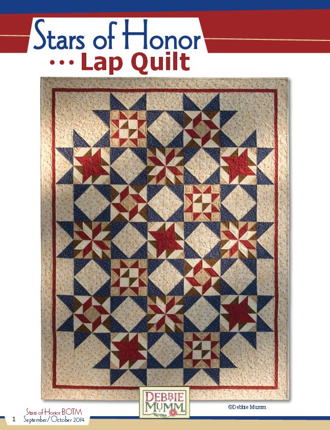 Stars of Honor lap quilt
