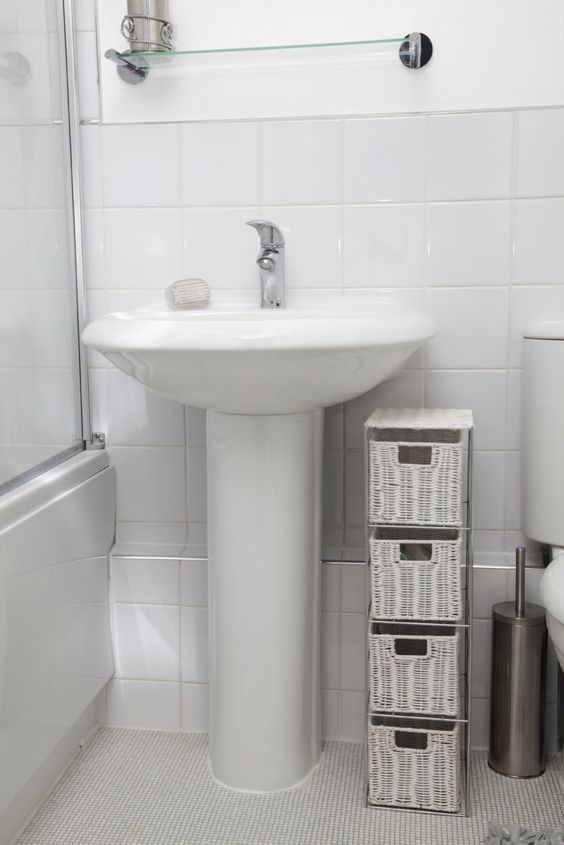 Best 25 Pedestal Sink Ideas On Pinterest Pedestal Sink Bathroom Small Pedestal Sink And Half