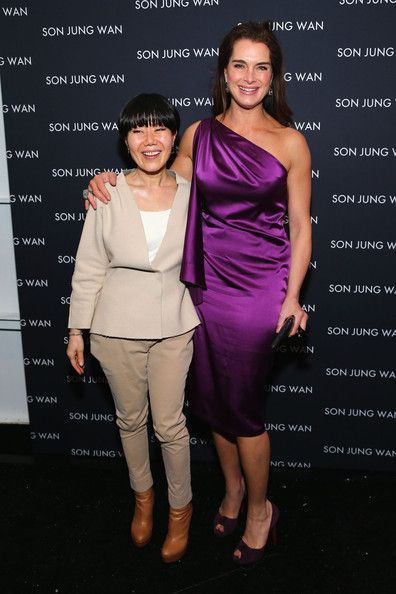 Son+Jung+Wan+Front+Row+Fall+2013+Mercedes+wWF with Brooke Shields
