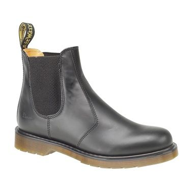 """Dr Martens Chelsea Boots are a classically styled dealer boot. Non Safety ankle boot with elastic sides and original Dr Martens features including Airwair heel loop and two-toned sole. This Dr. Martens Chelsea Boots feature DM's signature leathers. From the """"Back to Basics"""" collection, these classic slip-on Dr Martens Dealer Boots take you right to the heart of the Dr Martens brand."""