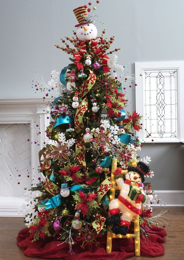 Love this snowman tree! (love the color of these walls)