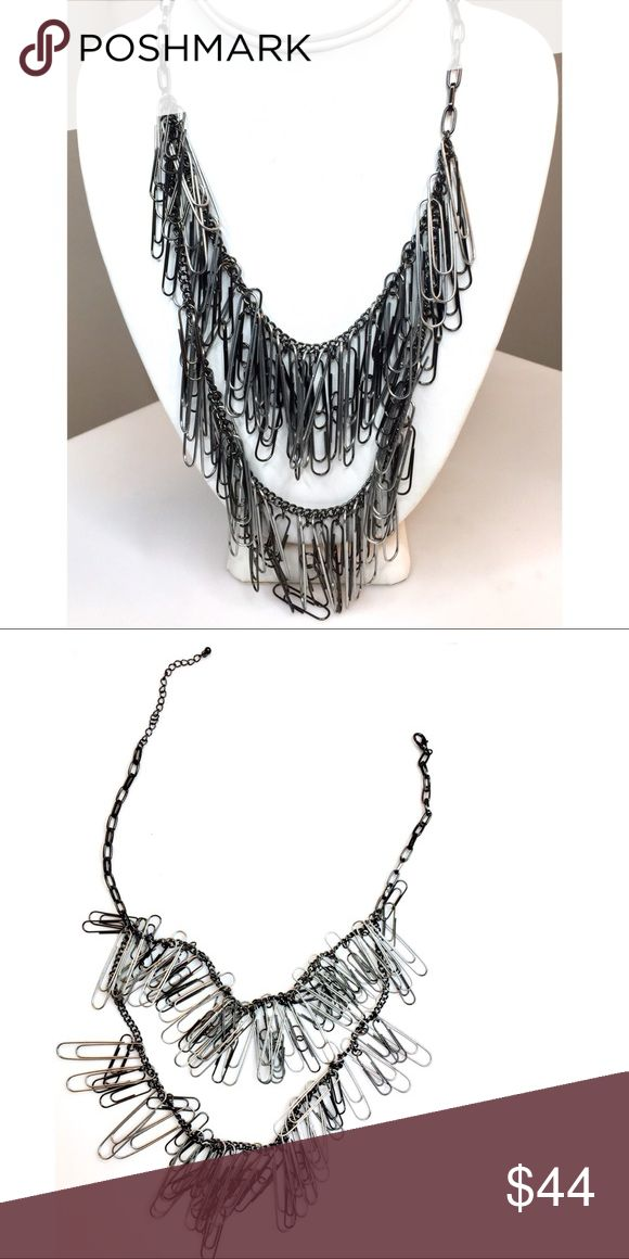 🎬 Punk Rocker Necklace From ABC Mistresses Cute paper clip punk rocker necklace with 2 layers. Worn on the ABC tv show Mistresses. Not sure which scene it's from or which actress wore it. No COA. Jewelry Necklaces