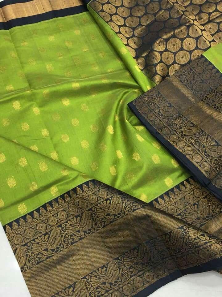 c6d3adcfca Latest Kuppadam Silk Sarees with Silver/gold Jari Borders & Buttas *  Contrast Rich Pallu * Contrast Plain Blouse * Price:7600 Order what's app  7995736811
