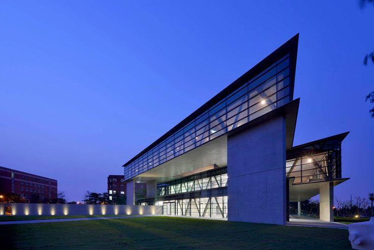 triangular geometry defines asia museum of modern art by tadao ando - designboom | architecture & design magazine