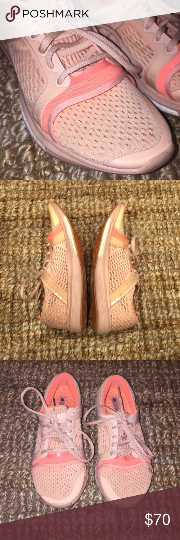 Stella McCartney Mesh shoes Worn only twice! These are too small for me! Size 7, but fit like a 6.5 or a small 7? Mesh. A nude/pink color. So comfy. Stella McCartney Shoes Sneakers
