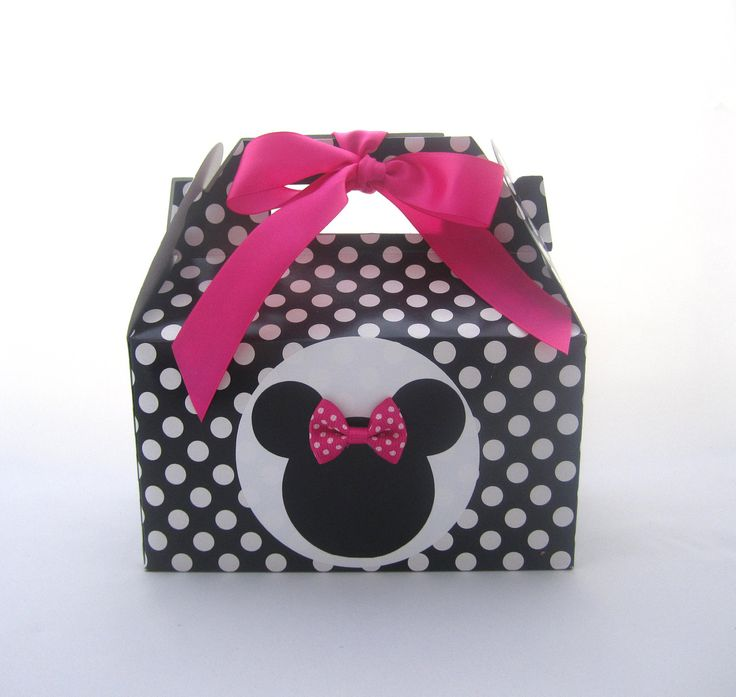 Hot Pink Minnie Mouse Favor Boxes - Minnie Mouse Favors - Baby Minnie Favors.