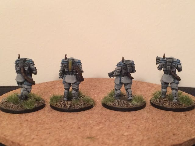 (Putting) The Colour into Space: Another squad of Talos suits.