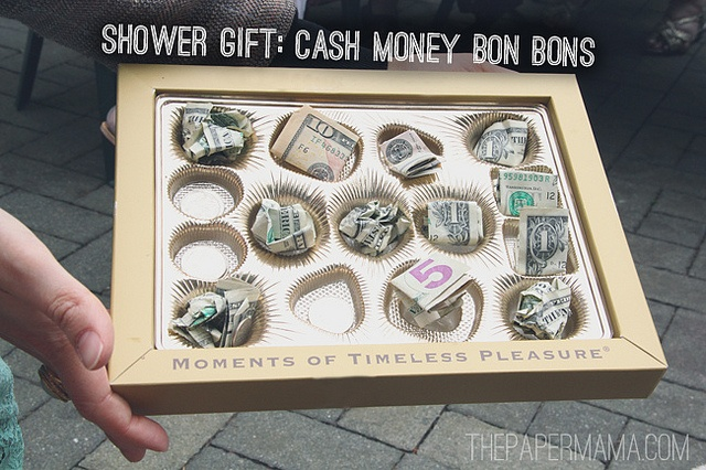 gift! Fill an empty box of chocolates with cash money! via: Bridal ...