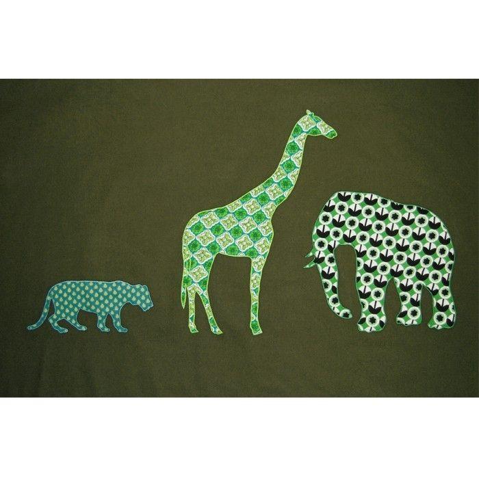 Ollibolly Bruin-groen safari dekbed 120x150cm