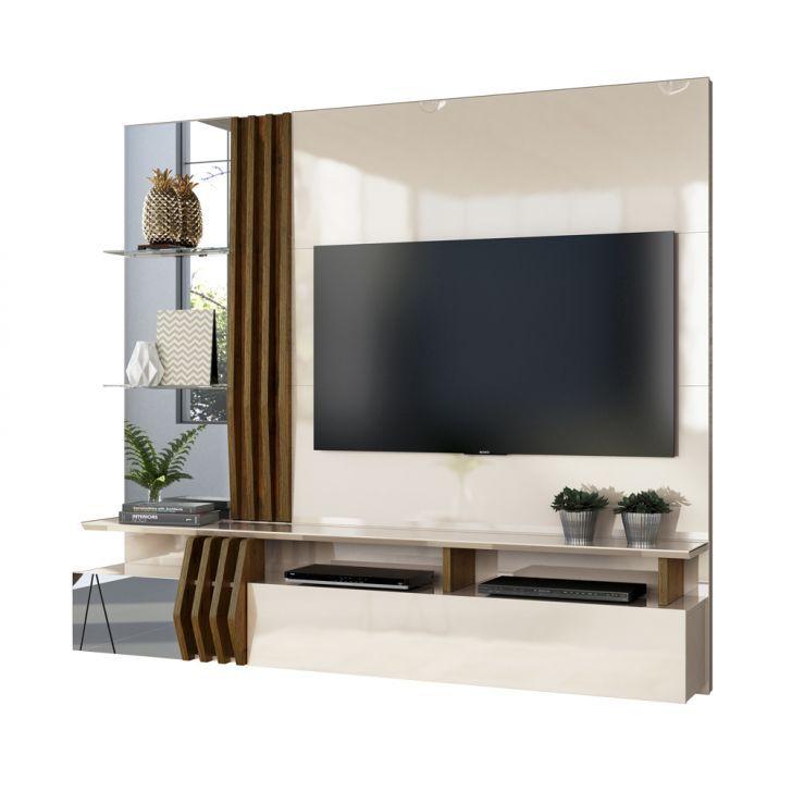 Painel Home Bello Para Tv 55 Polegadas Off White Demolicao Dj